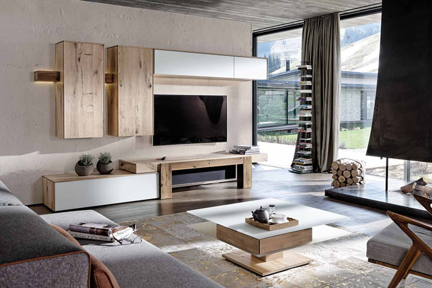 voglauer v solid wohnwand 425 m bel markt meier. Black Bedroom Furniture Sets. Home Design Ideas